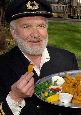 Very fond of fish, t'was Bernard.