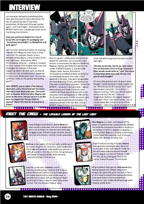 Transformers News: James Roberts Interview with TMW Magazine